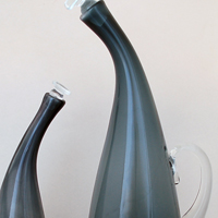 Blenko Bent Neck Decanters
