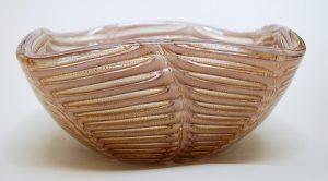 Graffito Lattimo bowl by Ercole Barovier.