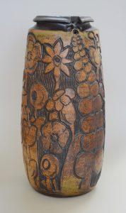 Large Andrew Bergloff studio pottery vase.