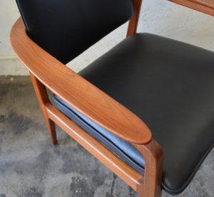 Sigvard Bernadotte teak armchair