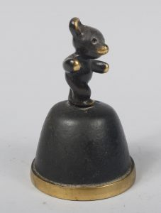 Walter Bosse bronze bell with a bear as the handle.