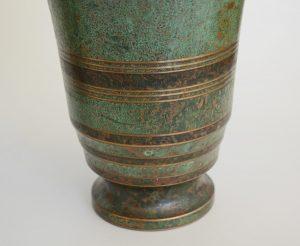 Carl Sorensen art deco bronze vase detail