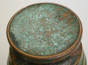 Carl Sorensen art deco bronze vase mark
