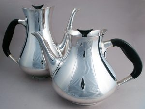 Cohr silver plate coffee and tea pots
