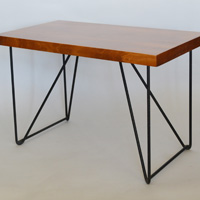 Luther Conover iron and walnut table
