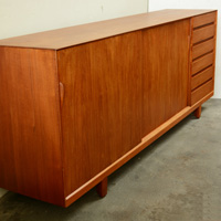 danish teak credenza by omann jun