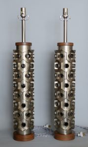 Industrial cutters as table lamps