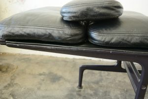 Eames chaise lounge close up of frame