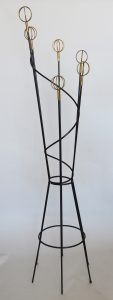 Roger Feraud iron and brass coat rack.