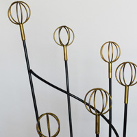 roger feraud iron coat rack detail