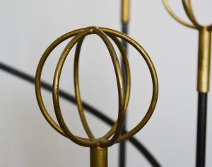 Roger Feraud iron and brass mid century coat rack.