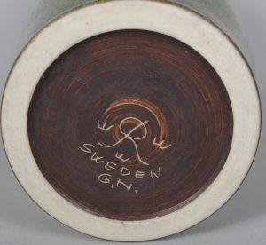 Gunnar Nyland Rorstrand signature.