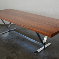 Helborg Mobler rosewood and chrome coffee table denmark