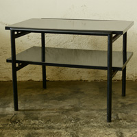 Don Knorr iron and laminate table for vista