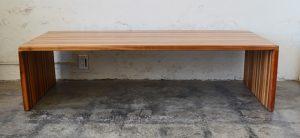California studio laminated wood coffee table