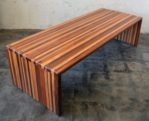 California studio laminated wood coffee table