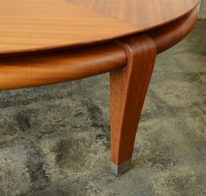 Paul Laszlo mahogany coffee table leg detail