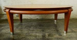 Paul Laszlo mahogany coffee table side view