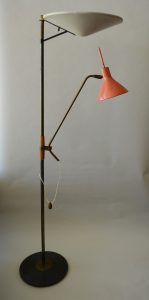 Mid century Lightolier floor lamp by Gerald Thurston.
