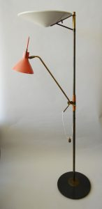 Gerald Thurston floor lamp designed for Lightolier.