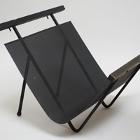 mid century iron magazine rack