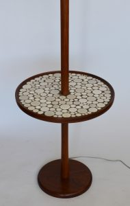 Gordon and Jane Martz floor lamp with attached table.