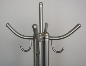 Warren McArthur coat rack aluminum hangers.
