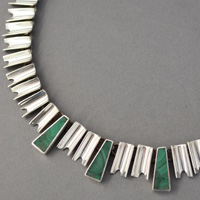 Mexican Sterling and Malachite Necklace