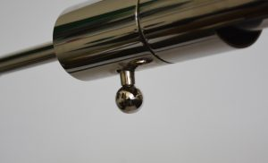 Nickel plated Casella reading lamp shade detail.