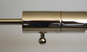 Nickel plated Casella reading lamp switch.