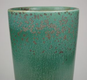 Closeup of the glaze on a Gunnar Nylund vase.