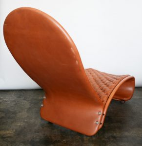 Verner Panton 123 chaise lounge back view