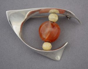 Ronald Hayes Pearson modernist sterling pin.