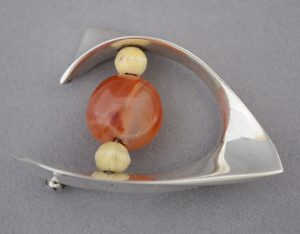 Ronald Hayes Pearson sterling mid century brooch.