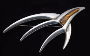 Erica Hult de Corral modernist sterling pin.