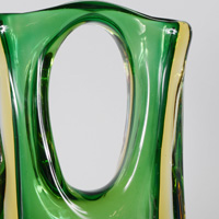 Cesare Toso Pierced Sommerso Glass Vase