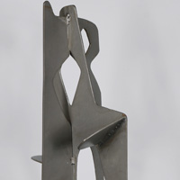 Modernist Abstract Steel Sculpture
