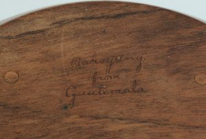 Bob Stocksdale mahogany bowl signature
