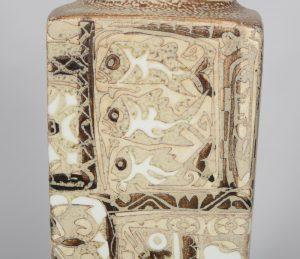 Detail of Nils Thorsson Baca fajance vase for Royal Copenhagen.