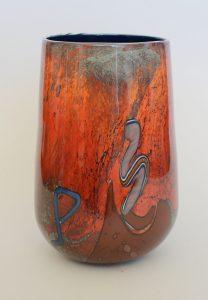 Robert Varin art glass vase.