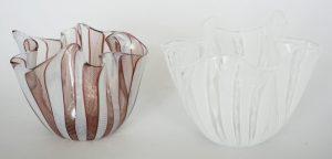 Pair of Venini Fazzoletto vases.