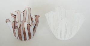 Pair of Venini handkerchief vases.
