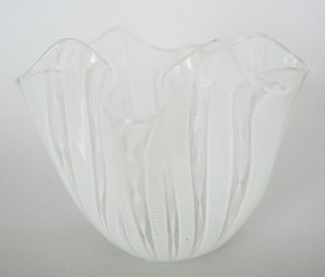 Venini Fazzoletto in white.