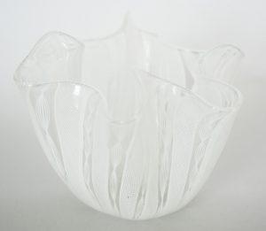 White Venini handerchief vase.