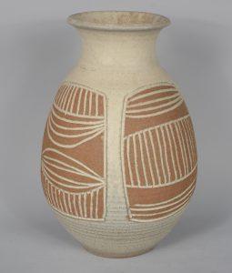 James Wishon pottery vase