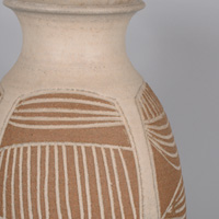 James Wishon Scraffito Vase