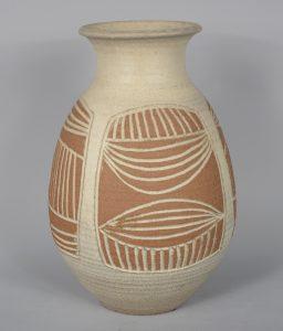 James Wishon pottery vase.