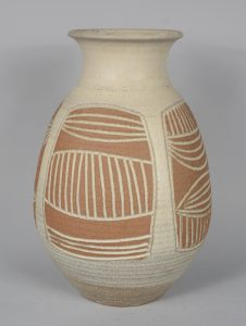 James Wishon ceramic vase.