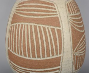 Side of James Wishon vase.