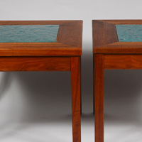 John Keal designed tables for Brown Saltman